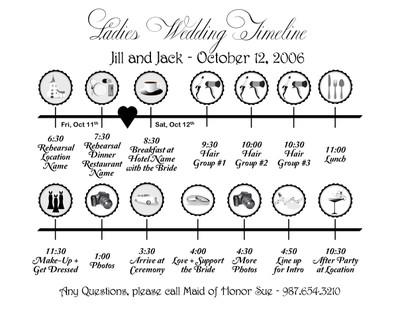 Wedding Weekend Itinerary Template Wedding Reception Itinerary