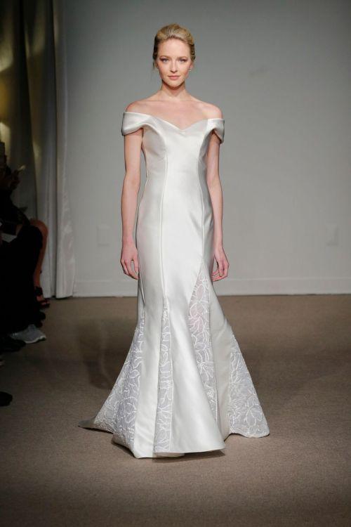 Medium Of Too Much Cleavage Wedding Dress