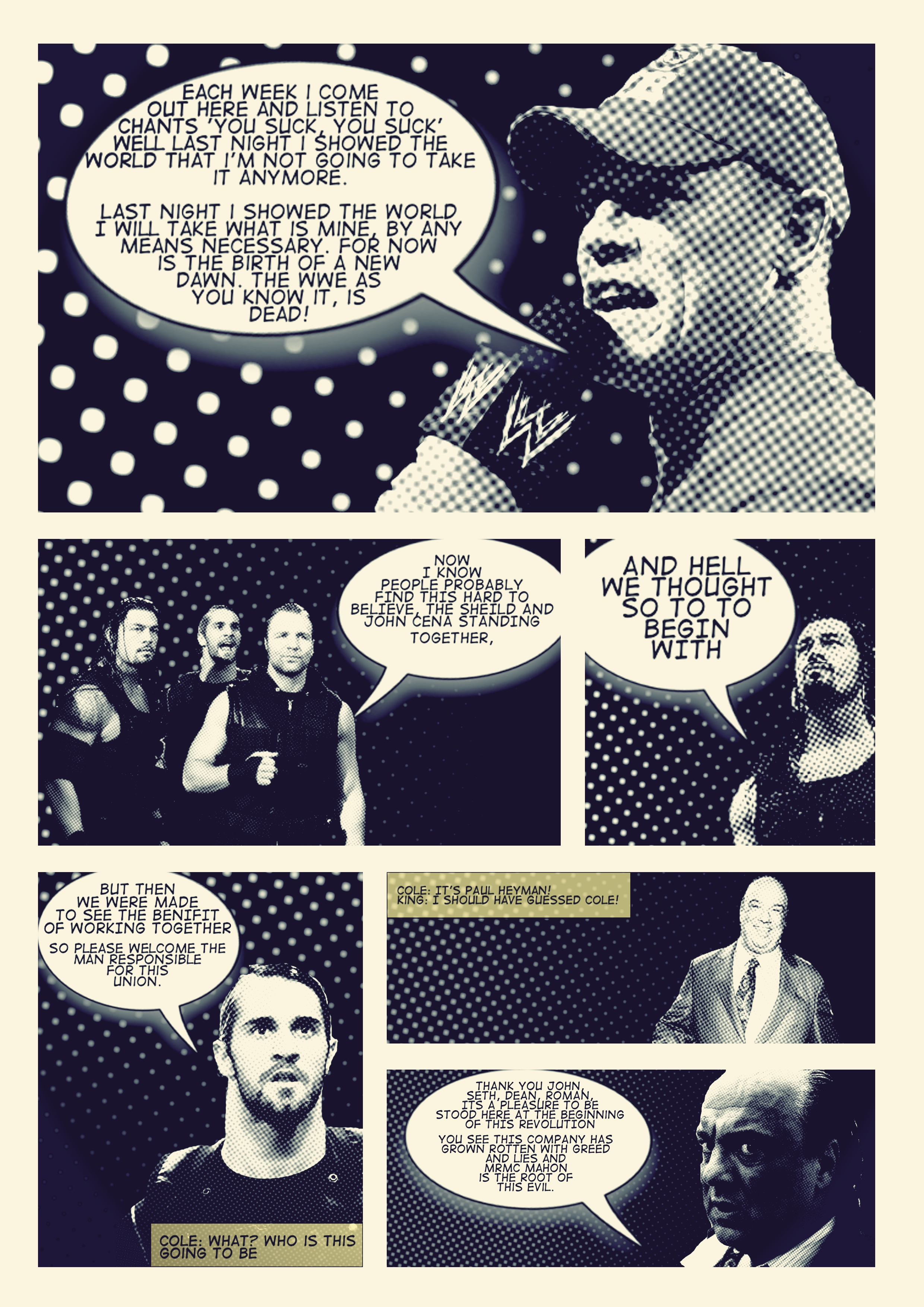 John Cena Quotes Wallpapers Dean Ambrose Wwecomic