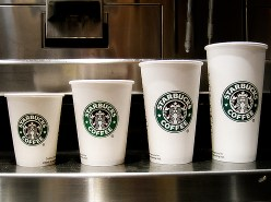 starbucks coffee cup size pic