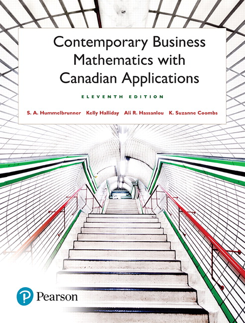 Pearson - Contemporary Business Mathematics with Canadian - business math