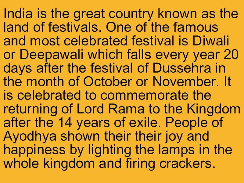 essay on diwali short diwali essay paragraph speeches in english - english short essays