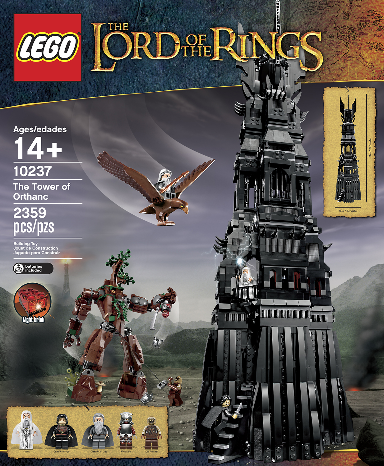 Tower of Sauron Lego Orthanc Lego Sauron Tower