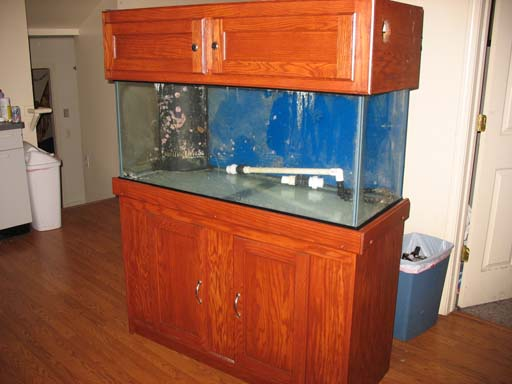 for sale 75 gallon glass aquarium with corner overflow no