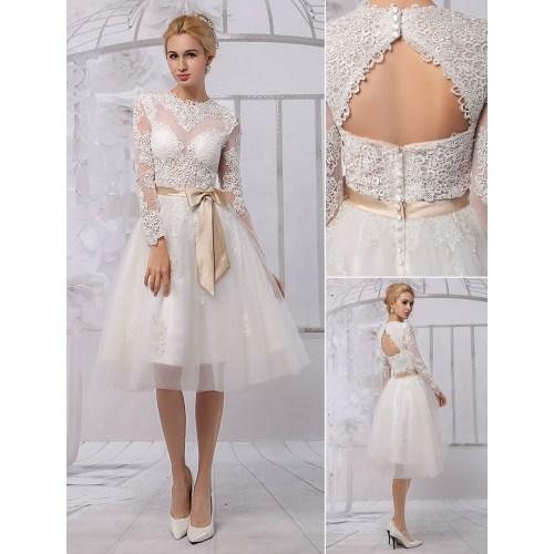Medium Crop Of Knee Length Wedding Dresses