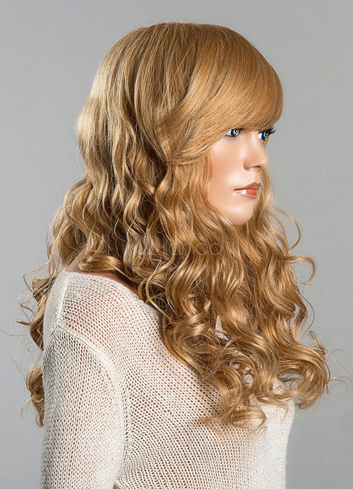 Curly Hair Length Chart Long Wigs Blonde Human Hair Wave Women 39;s Curly Real Hair
