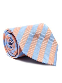 Orange Neck Ties Men Striped Business Ties - Milanoo.com