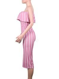 Plus Size Summer Dresses Strapless Striped Bodycon Dress ...