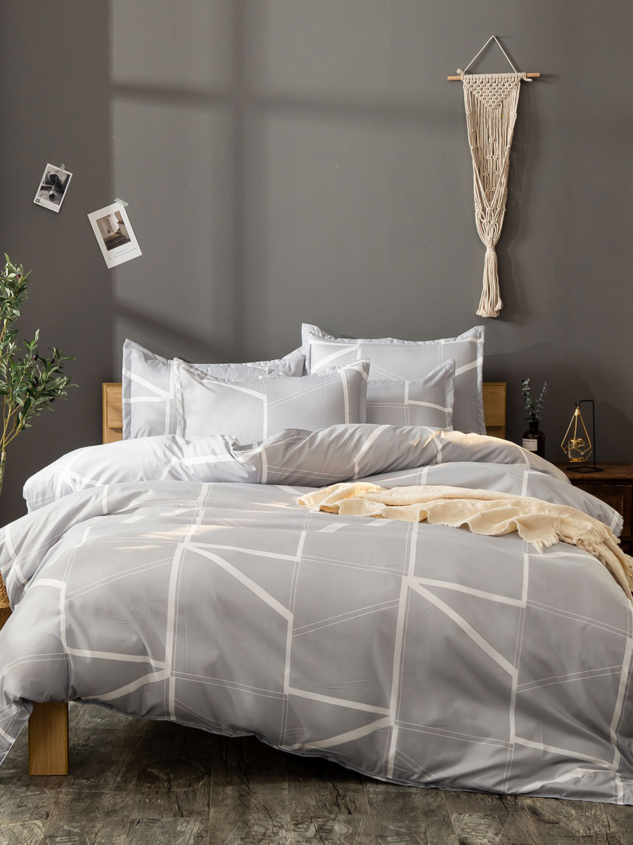 Bedding Set 3 Piece Polyester Fiber Khaki Bedding Supplies Milanoo Com