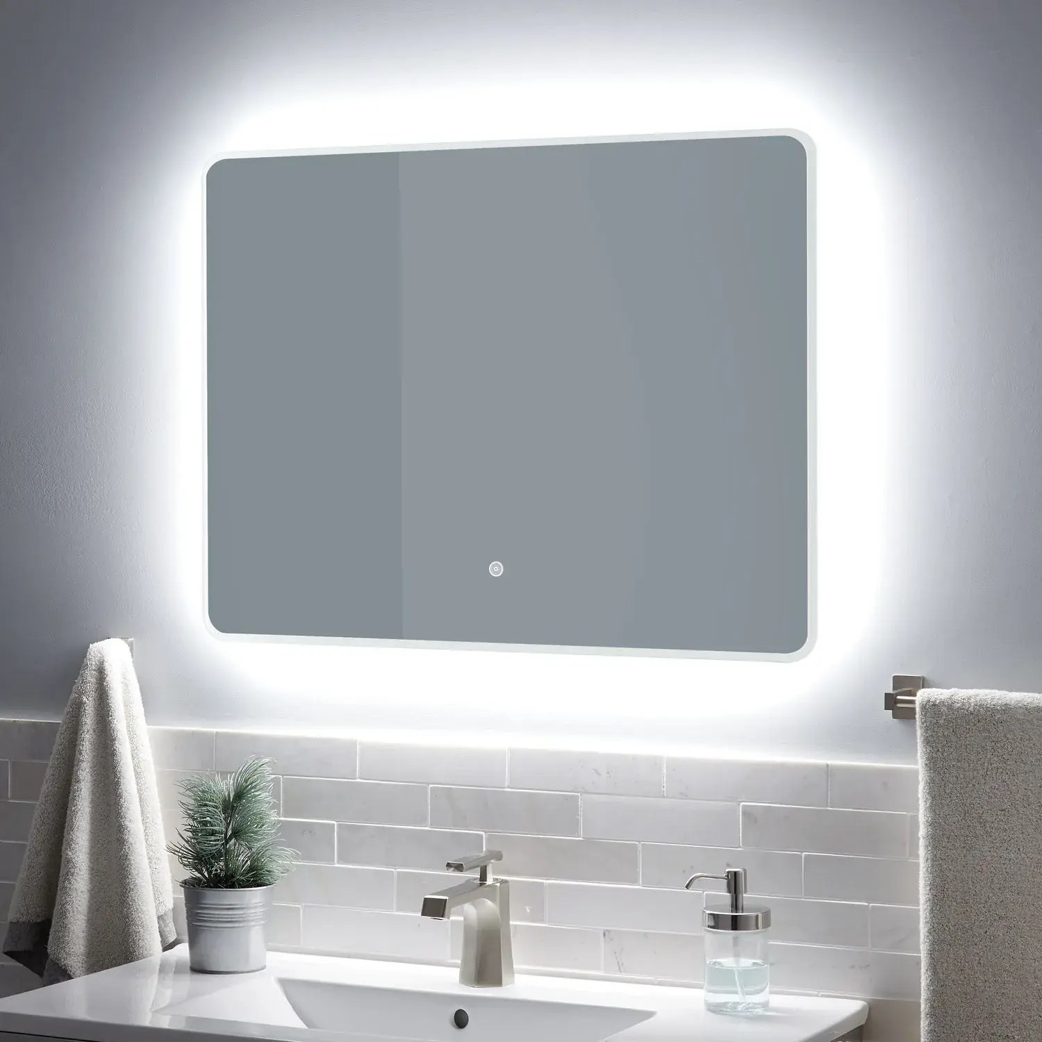 Https Www Signaturehardware Com Winnberg Lighted Mirror With Tunable Led Html