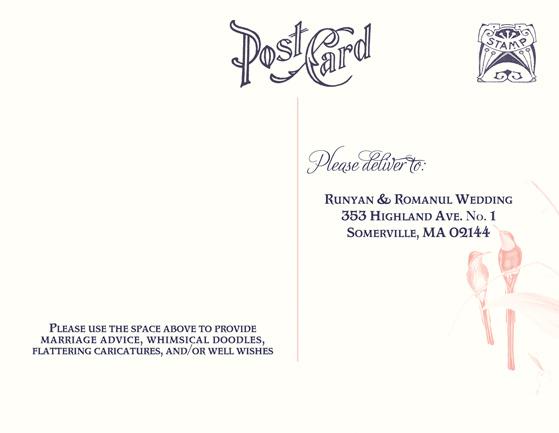 RSVP Postcard Help? - wedding response postcards