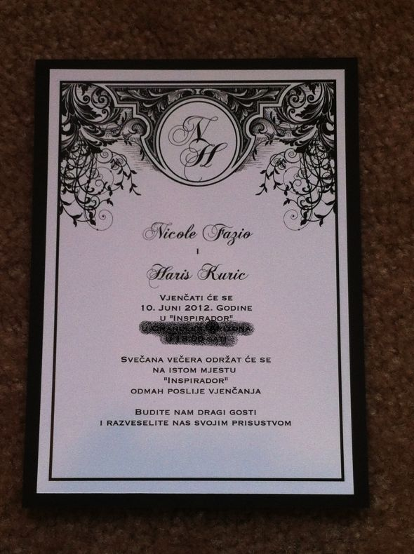 Art Nouveau/Deco Wedding Invitations