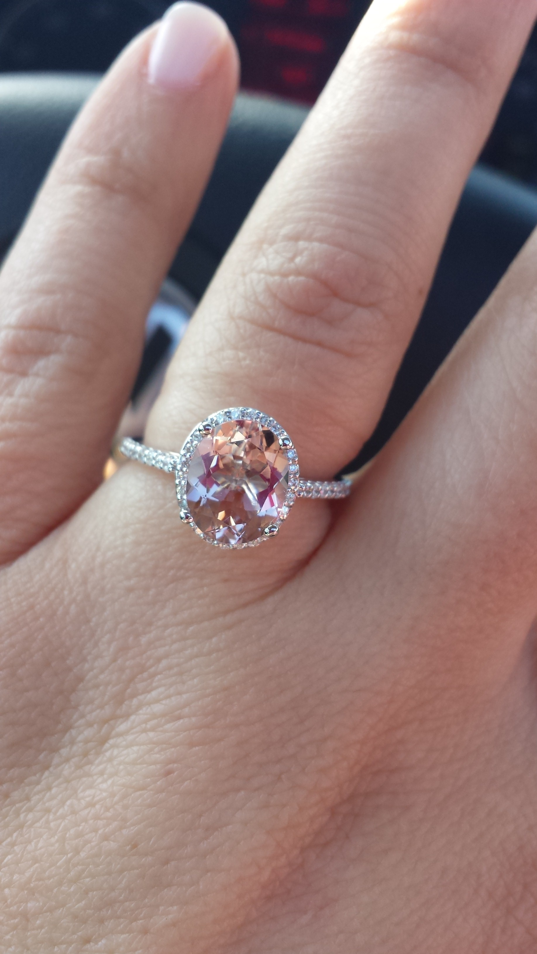 opinion on morganite engagement ring show me your engagement rings giant wedding ring My ring was from etsy and the jeweler was amazing And cheaper than what you ve been quoting PM me if you want his info Good luck