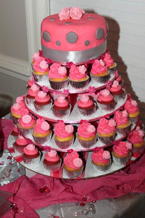 Black Silver And Pink Wallpaper Wedding Pink Amp Silver Cupcake Tree Weddingbee Photo