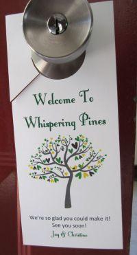 Door Hangers | Weddingbee Photo Gallery