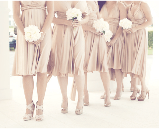 What Color Heels W Champagne Bridesmaid Dress For Our