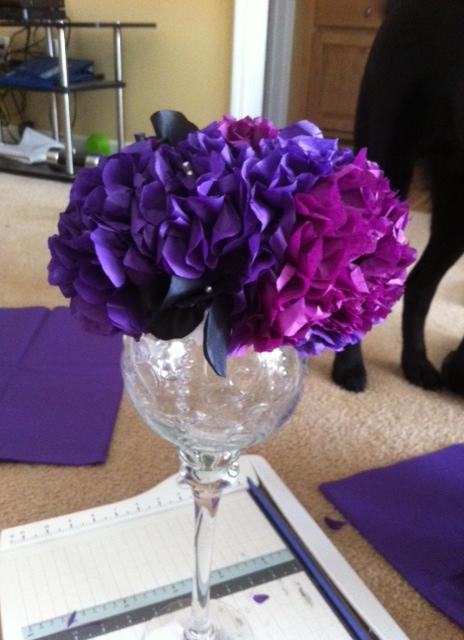 tissue paper flower centerpiece wedding