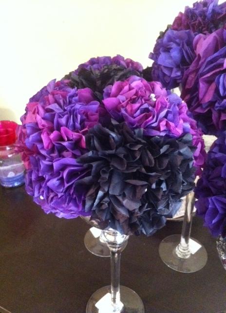 tissue paper flower centerpieces