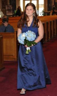David's Bridal Marine BluePics Please