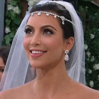 Wedding day hair like Kim K