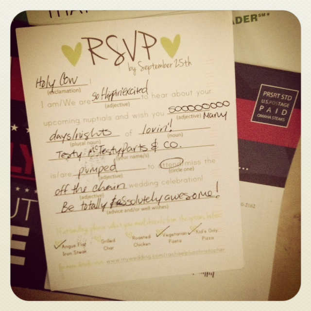 Show me your cute RSVP wording