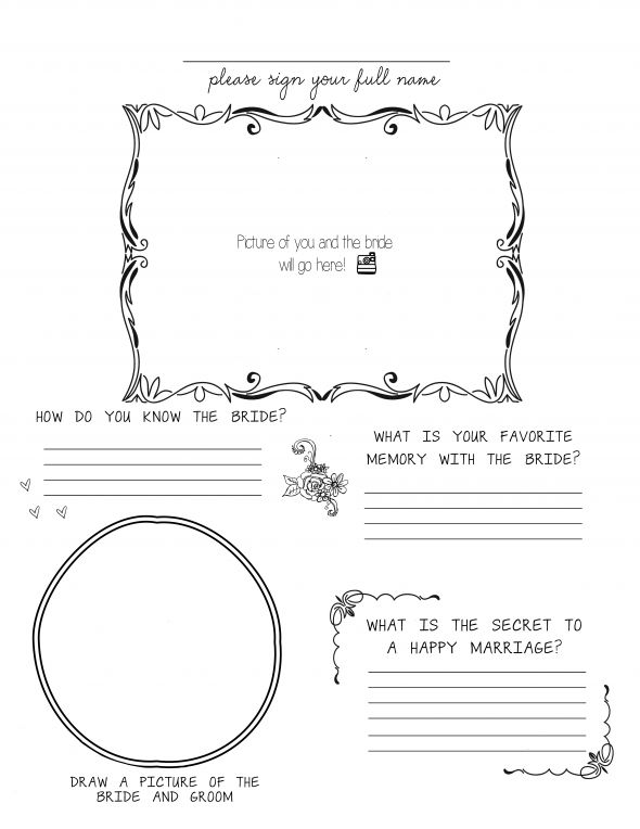 bridal shower guest book template - 28 images - guest book template - printable guest book templates