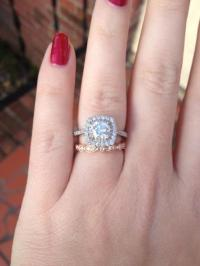 Show off your white gold engagement ring with a rose gold ...