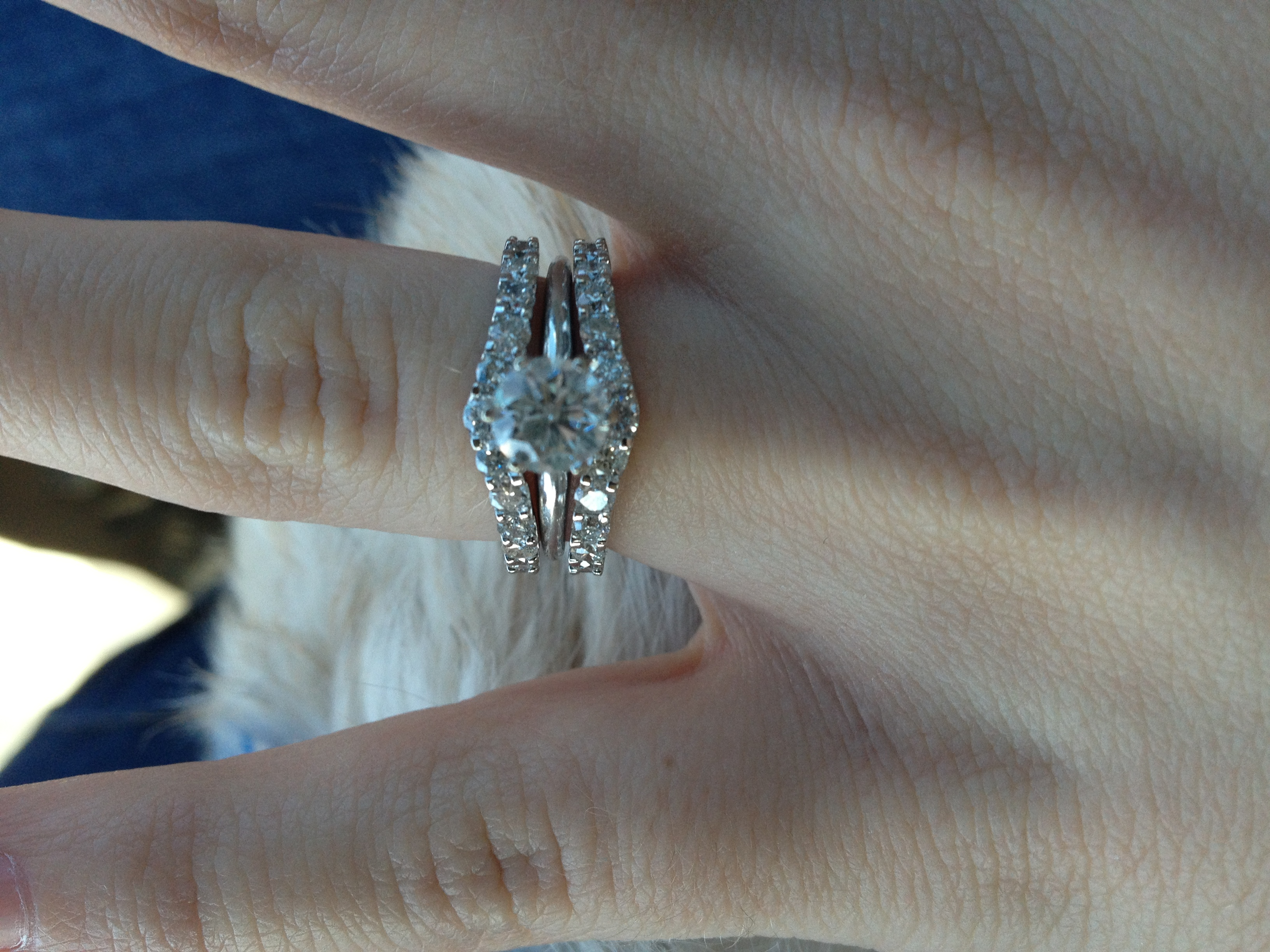 anyone have a ring wrap that isnt soldered to their engagement ring wedding ring wrap Post 4