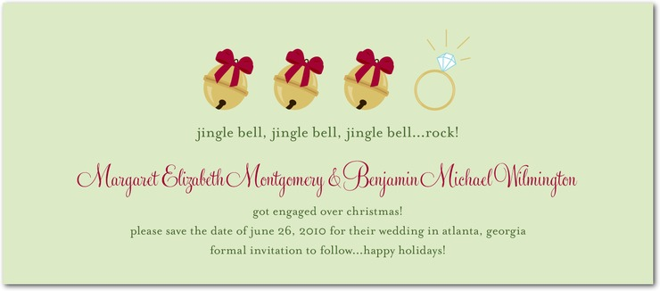 Christmas Card/Engagement Announcement \u2013 NOT a save the date!