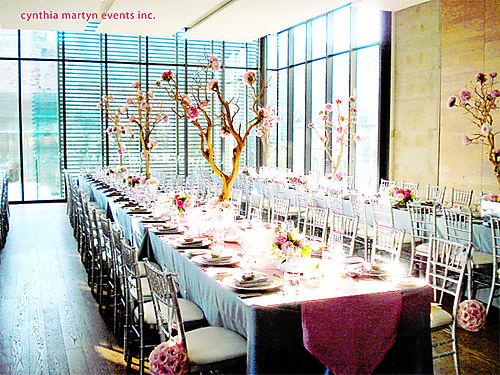 Rectangle table centerpieces/set up