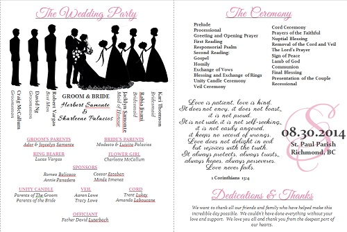 Free printable wedding program templates 3068357 - exeforeinfo