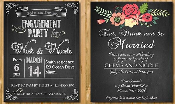 Chalkboard Invitations
