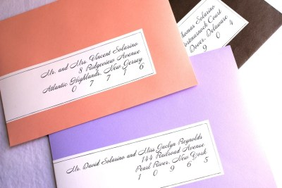 Wedding invitation address labels – What worked best for you?