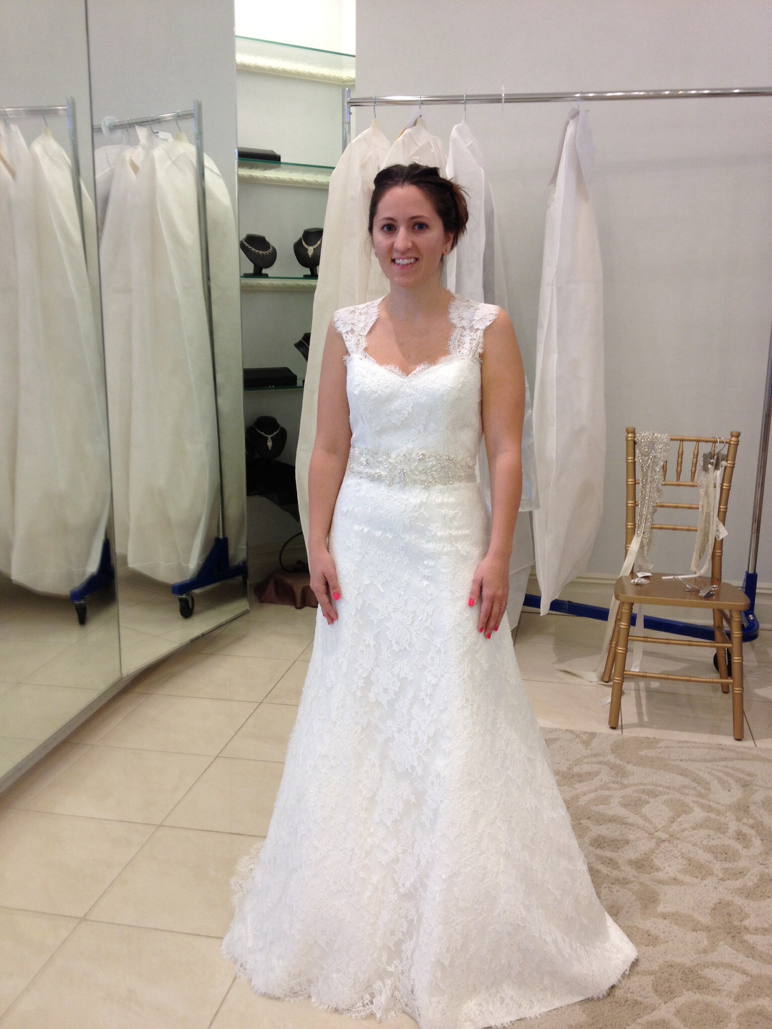 paloma blanca lace a line wedding dress with keyhole back keyhole back wedding dress Paloma Blanca Lace A Line wedding dress with Keyhole back Weddingbee Photo Gallery