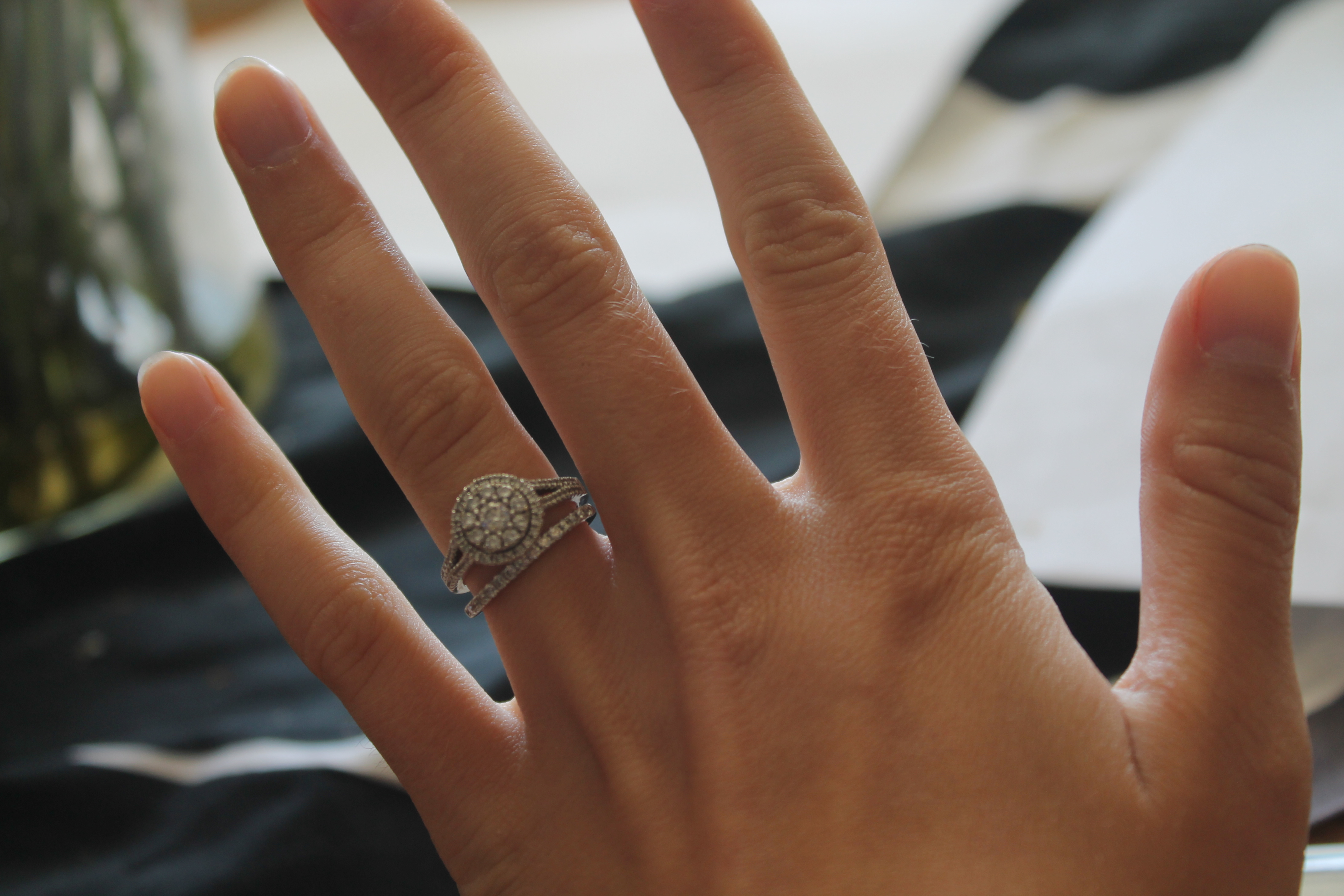 wedding and engagement rings that dont sit flush together wedding band curved Wedding and engagement rings that don t sit flush together