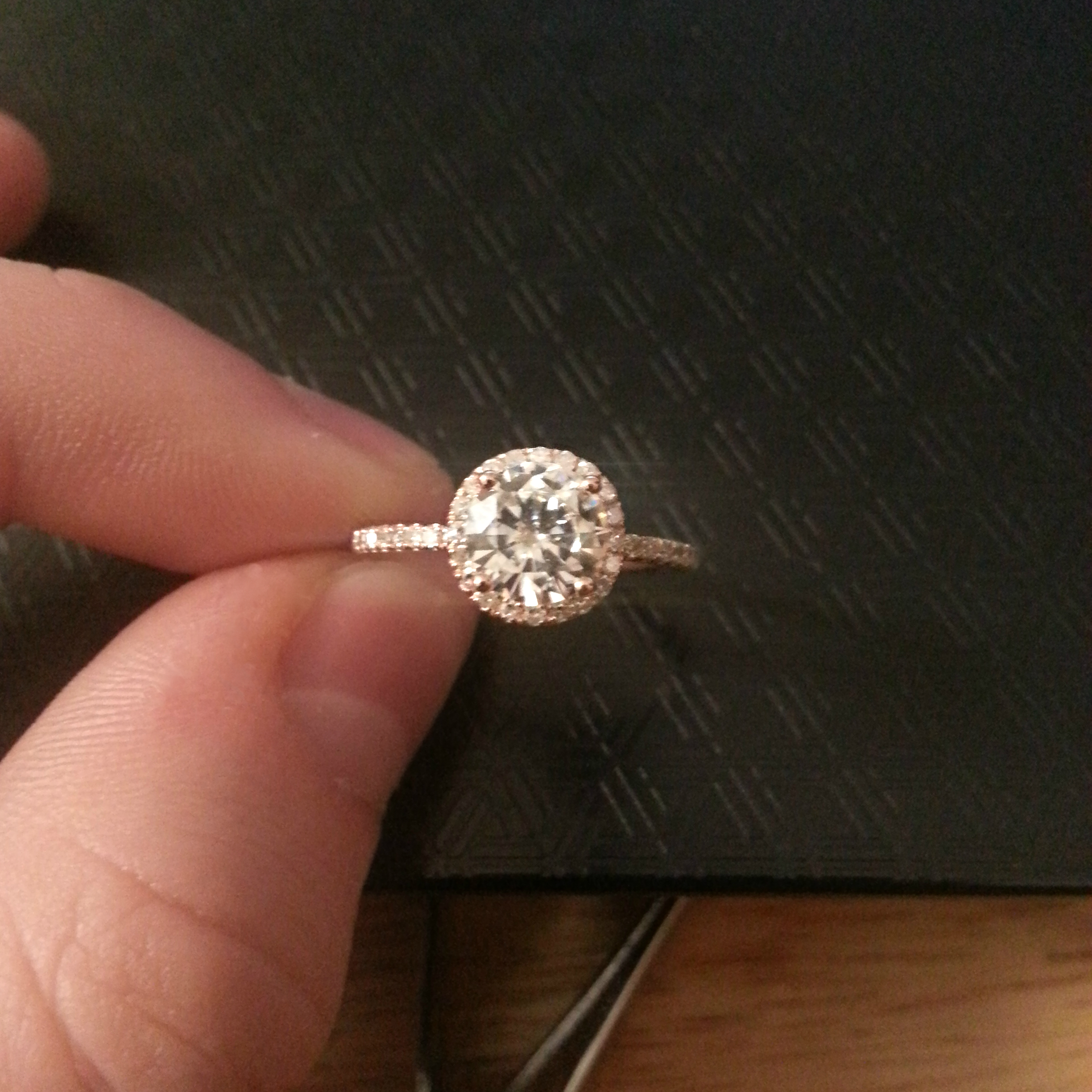wedding band for a thin halo engagement ring thin wedding bands Other than that I am extremely open minded