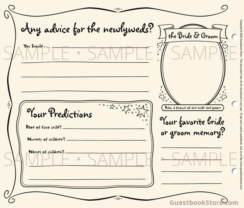 DIY guestbook template help - guest book template