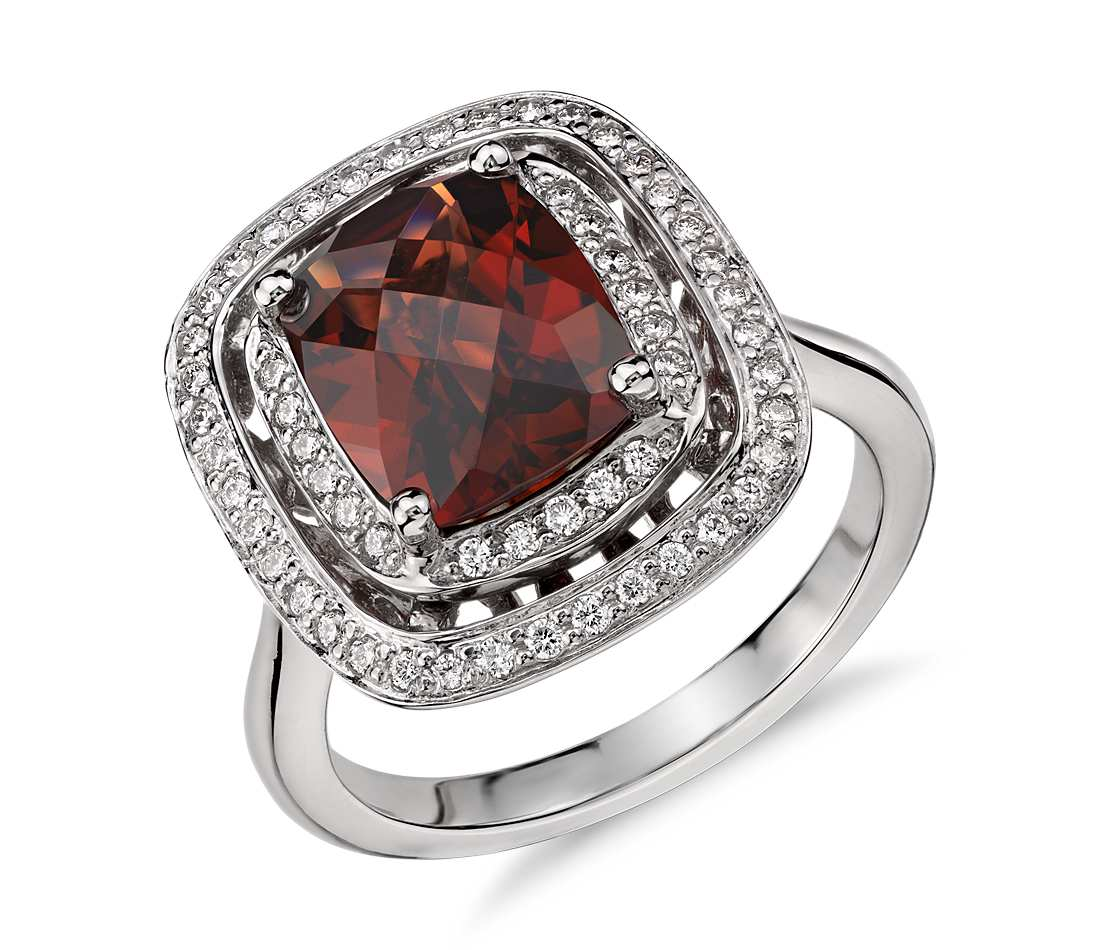 garnets rubies seeing red let me see your red e rings garnet wedding rings I was just ogling this one from Blue Nile yesterday Thoughts See it here too bit ly