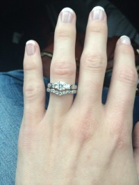 Show me your 3-stone engagement rings, with your wedding ...
