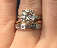 Yellow gold band with white gold engagement ring?