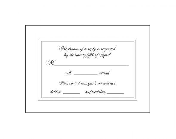 wedding rsvp card wording number of guests - 28 images - wedding