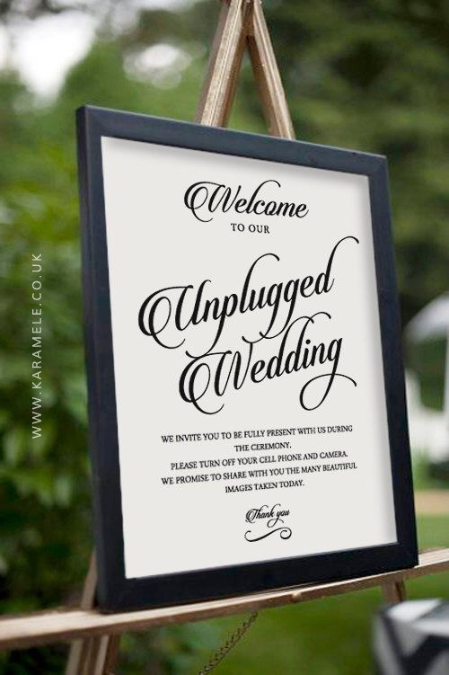 Is it okay to ask wedding guests to turn off their cell phone during - Turn Off Cell Phone Sign