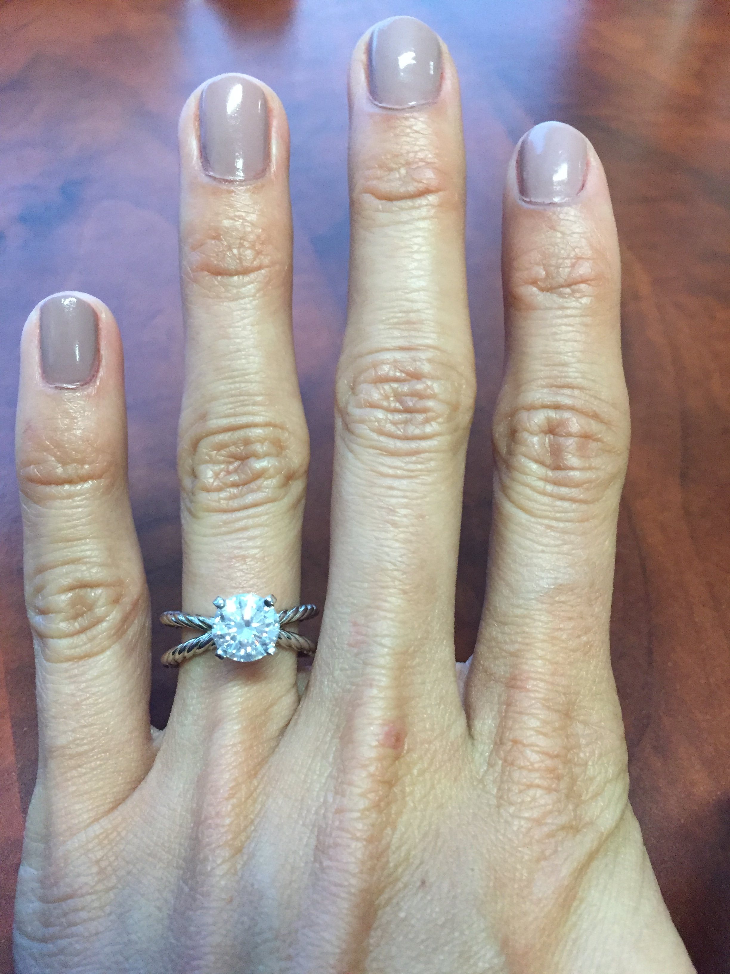 david yurman engagement rings anyone david yurman wedding rings wholesale pricing and she had the diamond set in a band by Adwar Casting in New York It s not the same as DY but it s similar and the price was right