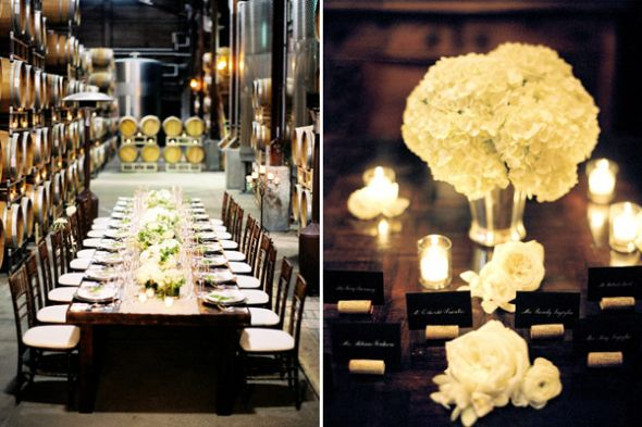 Please share pictures of centerpieces on rectangle tables
