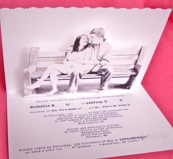 Pop Up Wedding Invitations Weddingbee Photo Gallery