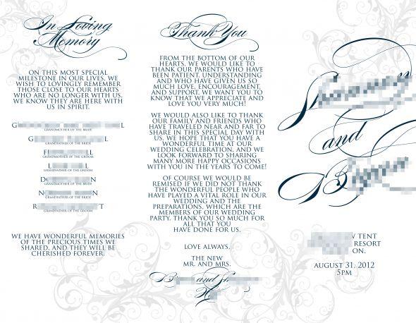 tri fold wedding programs templates - Colesthecolossus