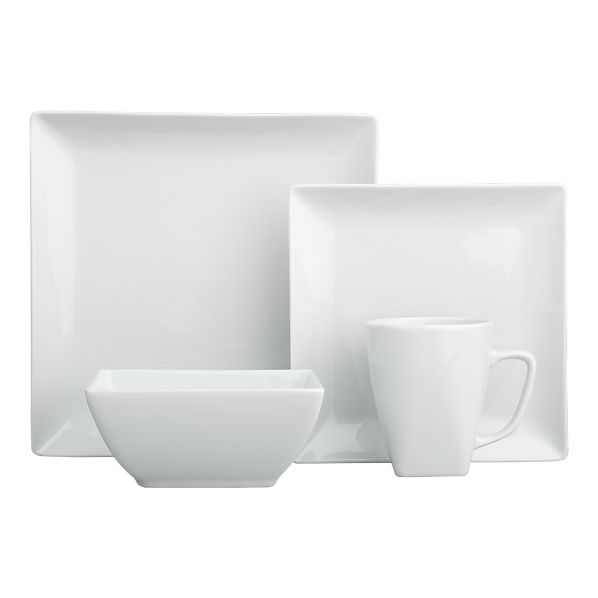 Show Me Your Square White Dinnerware Weddingbee