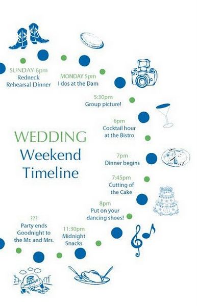Helpful Series Wedding Day Timeline a la Pug - wedding event timeline template