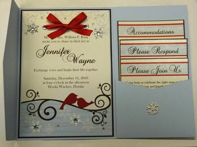 Christmas Wedding Invitations - Best Profesional Wedding Planner