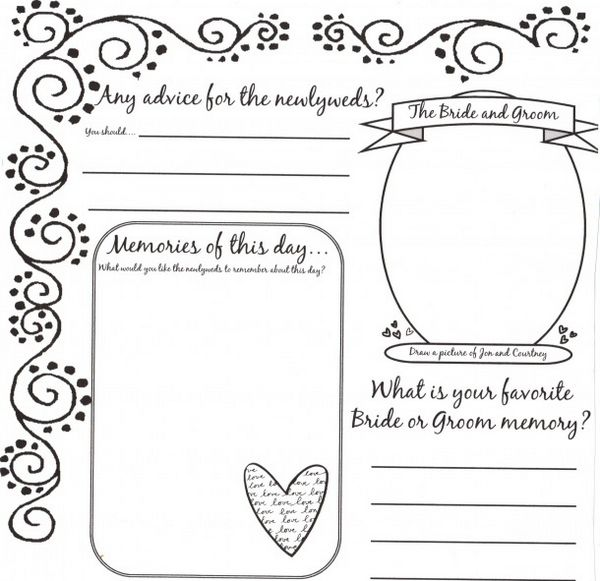 wedding guest book pages template - Acurlunamedia - guest book template